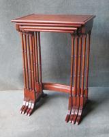 Edwardian Nest of Mahogany Tables