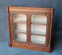 Burr Walnut & Tunbridge Ware 2-Door Pier Cabinet c.1860