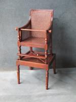 Victorian Mahogany Hepplewhite Style Childs High Chair
