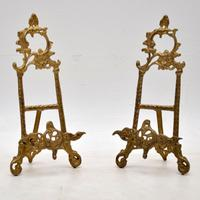 Pair of Gilt Metal Picture Holders c.1950