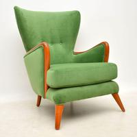 Vintage Wing Back Armchair by Howard Keith c.1950