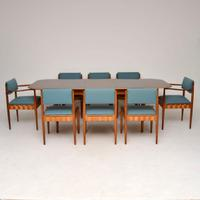 Rosewood & Mahogany Dining Table & Chairs by Robin Day for Hille c.1950