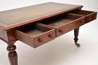 Large Antique William IV Mahogany Leather Top Writing Table / Desk (7 of 11)