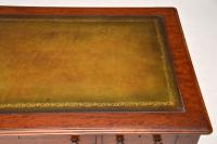 Large Antique William IV Mahogany Leather Top Writing Table / Desk (3 of 11)