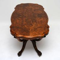 Antique Victorian Burr Walnut Centre Table (7 of 10)