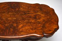 Antique Victorian Burr Walnut Centre Table (8 of 10)