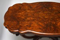 Antique Victorian Burr Walnut Centre Table (9 of 10)