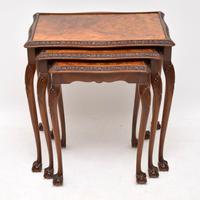 Antique Burr Walnut Nest of Tables (3 of 9)