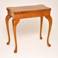 Queen Anne Style Burr Walnut Card Table c.1930 (10 of 11)