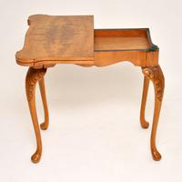 Queen Anne Style Burr Walnut Card Table c.1930 (4 of 11)