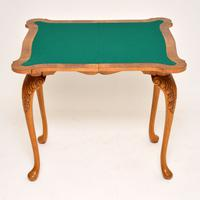 Queen Anne Style Burr Walnut Card Table c.1930 (5 of 11)