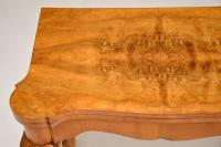 Queen Anne Style Burr Walnut Card Table c.1930 (6 of 11)