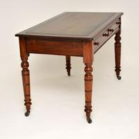 Antique Mahogany Leather Top Writing Desk (6 of 10)