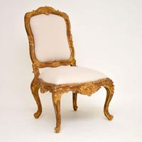 Antique Italian Style Giltwood Side Chair