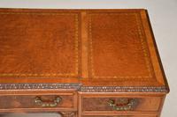 Antique Burr Walnut Leather Top Desk (10 of 12)
