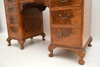 Antique Burr Walnut Leather Top Desk (5 of 12)