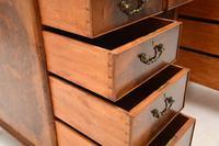 Antique Burr Walnut Leather Top Desk (7 of 12)