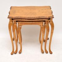 Queen Anne Style Walnut Nest of Tables c.1930 (2 of 8)