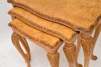 Queen Anne Style Walnut Nest of Tables c.1930 (3 of 8)