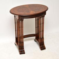 Antique Burr Walnut Nest of Four Tables (11 of 12)