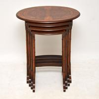 Antique Burr Walnut Nest of Four Tables (12 of 12)