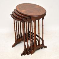 Antique Burr Walnut Nest of Four Tables (2 of 12)