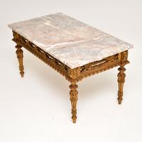 Antique French Giltwood Marble Top Coffee Table (9 of 9)