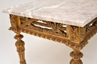 Antique French Giltwood Marble Top Coffee Table (3 of 9)