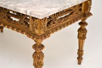 Antique French Giltwood Marble Top Coffee Table (4 of 9)