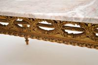 Antique French Giltwood Marble Top Coffee Table (6 of 9)