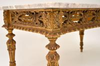 Antique French Giltwood Marble Top Coffee Table (8 of 9)
