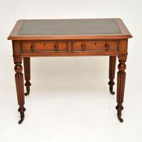 Antique Victorian Mahogany & Leather Writing Table / Desk (2 of 10)