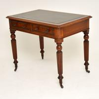 Antique Victorian Mahogany & Leather Writing Table / Desk (3 of 10)