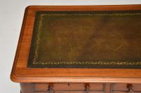 Antique Victorian Mahogany & Leather Writing Table / Desk (4 of 10)