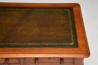 Antique Victorian Mahogany & Leather Writing Table / Desk (5 of 10)