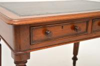 Antique Victorian Mahogany & Leather Writing Table / Desk (6 of 10)