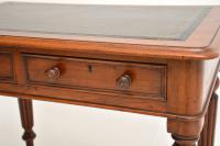 Antique Victorian Mahogany & Leather Writing Table / Desk (7 of 10)