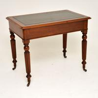 Antique Victorian Mahogany & Leather Writing Table / Desk (10 of 10)