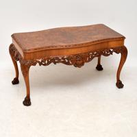 Burr Walnut Queen Anne Style Coffee Table c.1920