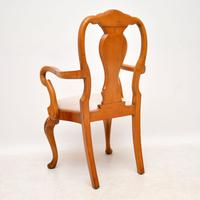 Queen Anne Style Burr Walnut Dining Table & 8 Chairs c.1930 (4 of 14)