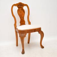 Queen Anne Style Burr Walnut Dining Table & 8 Chairs c.1930 (5 of 14)