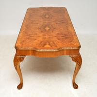 Queen Anne Style Burr Walnut Dining Table & 8 Chairs c.1930 (10 of 14)