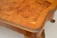 Queen Anne Style Burr Walnut Dining Table & 8 Chairs c.1930 (9 of 14)