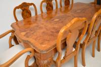 Queen Anne Style Burr Walnut Dining Table & 8 Chairs c.1930 (14 of 14)