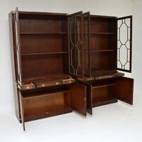 Pair of Antique Military Campaign Style Mahogany Bookcase (4 of 10)