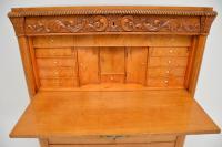 Antique Swedish Carved Oak Secretaire Chest (7 of 12)
