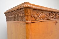 Antique Swedish Carved Oak Secretaire Chest (4 of 12)