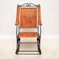 Wrought Iron & Leather Rocking Chair (10 of 12)