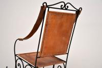 Wrought Iron & Leather Rocking Chair (3 of 12)