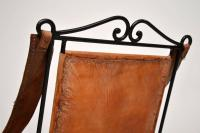 Wrought Iron & Leather Rocking Chair (2 of 12)